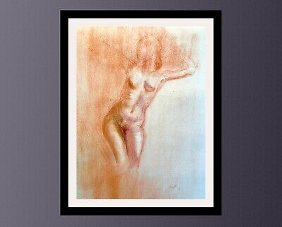 £19.99 • Buy Classical Figure Study, Signed By The Artist, Charcoal And Pastel