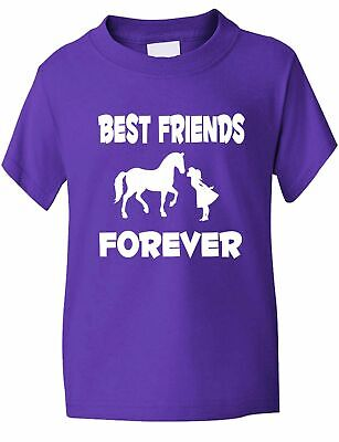 £7.99 • Buy Best Friends Forever Love My Horse Funny Pony Riding Kids T Shirt  Age 1-13