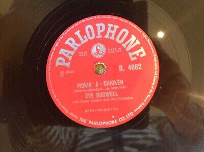 £0.99 • Buy EVE BOSWELL ~ PICKIN A CHICKEN & BLUE STAR PARLOPHONE R4082 Plays Beautifully