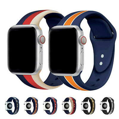 $ CDN0.99 • Buy For Apple Watch Series 6 5 4 3 SE IWatch Strap Replacement Band Sport Silicone