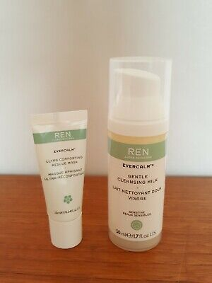 £7.50 • Buy Brand New REN Evercalm Gentle Cleansing Milk & Ultra Comforting Rescue Mask.