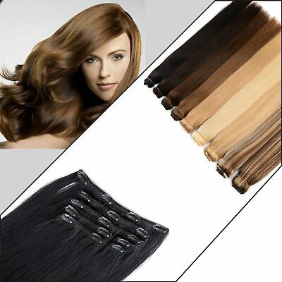 $21.99 • Buy Clip In 18 Clip 8piece Pretty Human Hair Extensions Keratin Advanced Quality