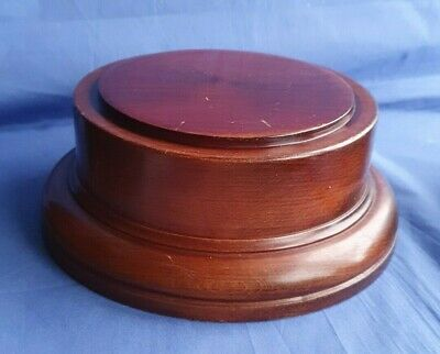 £19.99 • Buy Large Vintage Wooden Plinth Display Trophy Stand With Leather Effect Base  #29