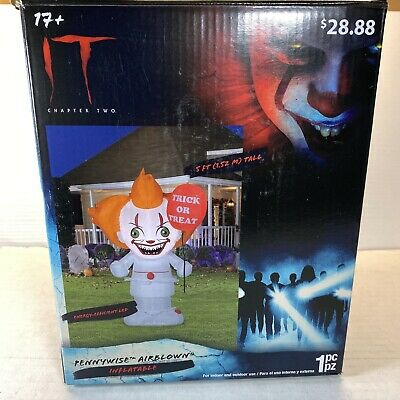 $ CDN33.84 • Buy IT Chapter Two Halloween Airblown Inflatable 5' Pennywise Clown Decor