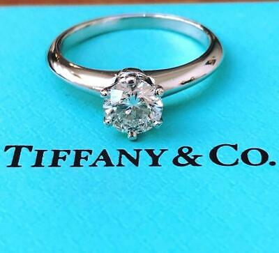 AU8350 • Buy Tiffany & Co. 0.70ct G/VS1 Diamond Solitaire Engagement Ring Cert/Val/Rcpt/Boxes