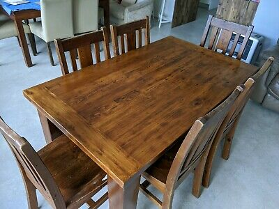 AU109 • Buy Solid Timber Dining Table And 6 Chairs