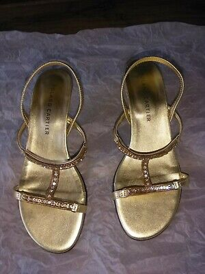 £2.50 • Buy Roland Cartier Size 4 Gold Jewelled Sandal