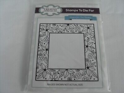 £1.50 • Buy Sue Wilson Stamp Floral Doodle Square