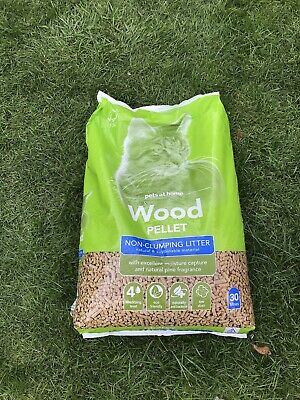 £2 • Buy 2x Cat Litter Wood Pellets Non Clumping Light Pine Scent Highly Absorbent 30l