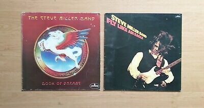 £3 • Buy The Steve Miller Band Vinyl LPs - Fly Like An Eagle & Book Of Dreams Albums