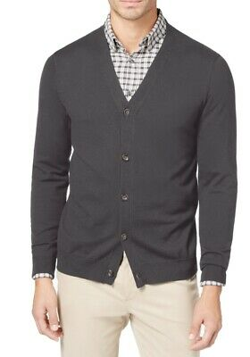 $0.99 • Buy Club Room Mens Sweater Gray Size 2XL Knit V-Neck Button-Front Cardigan $49 040