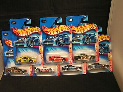 £18.69 • Buy Hot Wheels 2004 FERRARI HEAT Complete Series With Variations 7 Car Lot CARDED