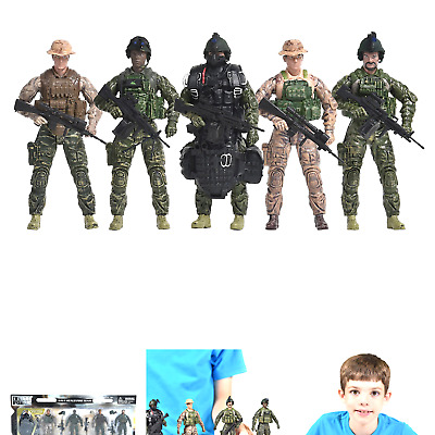 $25.16 • Buy Navy Seals Action Figures – 5 Pack Military Toy Soldiers Playset With 14 Poin...