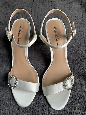 £9.99 • Buy Roland Cartier Ivory Satin Sandals Size 3 BRAND NEW