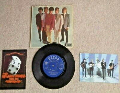 £4.50 • Buy The Rolling Stones Ep  Five By Five  (1964)  Decca  Label + 2 Postcards Vg+ Cond