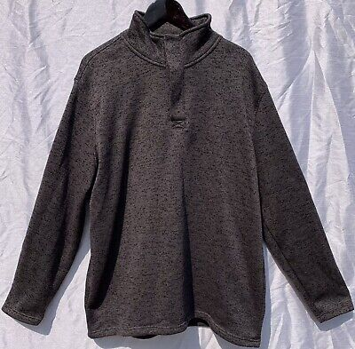 $15.95 • Buy EUC Beverly Hills Polo Club Mens Long Sleeve 1/4 Zip Button Sweater 2XL