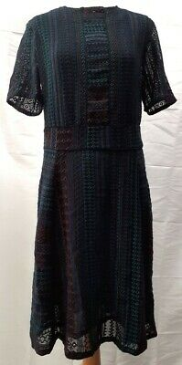 £65 • Buy Brora Black Blue Green Red Embroidered Dress Size UK 14 New With Tags RRP £299