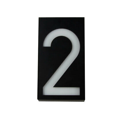 £10.30 • Buy Solar Led Illuminated House Door Number Light Wall Plaque Modern Number 2