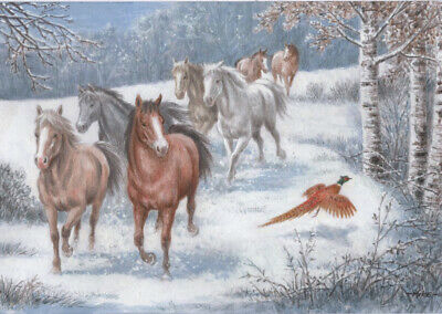 £4.50 • Buy Redwings Running The Horses Christmas Cards