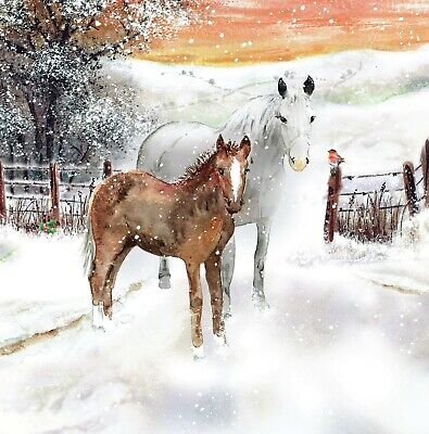 £4 • Buy Redwings Horses In The Snow Christmas Cards