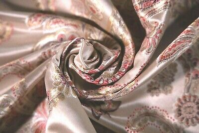£7.49 • Buy Rose Gold Silk Floral Fabric By Madison 115 W -Crafts/Curtain /Upholstery 211