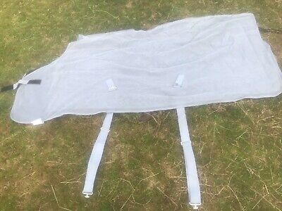 £6.30 • Buy Horse Mesh Fly Rug, Grey 6'6  By Horze Nearly New