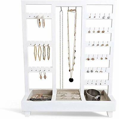 £39.89 • Buy AHDECOR Jewelry Display Stand Extra Tall Tabletop Necklace Holder With Ring Tray
