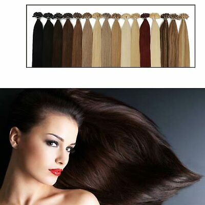 £19.99 • Buy Luxury 8A U Tip Remy Human Hair Extension Lustrous Deluxe Soft Straight