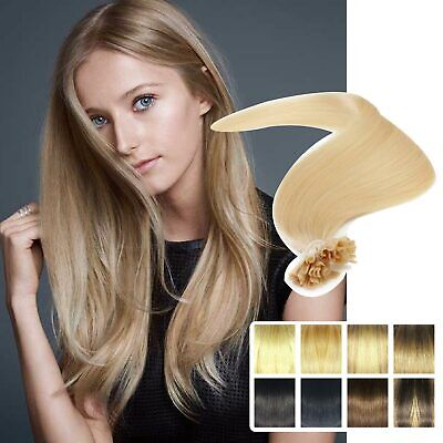 £9.99 • Buy Beauty Nail/U Tip Grade Remy Human Hair Extensions Lustrous Deluxe Deluxe