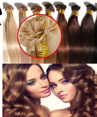 £23.58 • Buy 8A Lustrous Deluxe Remy Human Hair Extensions Straight Nail/U Tip 200Pcs UK