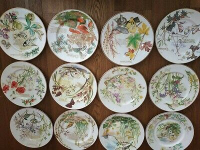 £140 • Buy Caverswall The Country Diary Of An Edwardian Lady Plates/12 Months