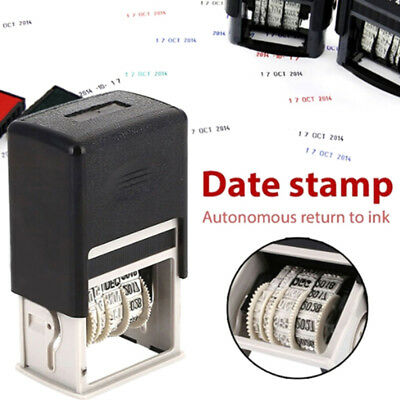 AU5.32 • Buy 4Mm Date Stamp Roller Date Stamp With Ink English  Diy Date SealQ^BI