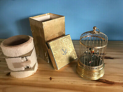£719.71 • Buy Antique NGK Automaton Singing Bird In Cage W/ Original Box Tested/ Works