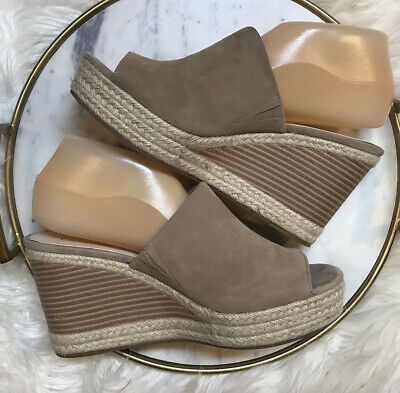 £18.28 • Buy Jessica Simpson Monrah Fawny Lux Kid Suede Wedge Sandal Shoes Size 9M Heels
