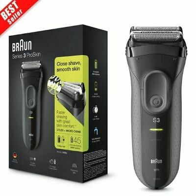 View Details BRAUN Series 3 ProSkin 3000s Mens Electric Rechargeable Shaver Smooth Razor NEW. • 52.29£