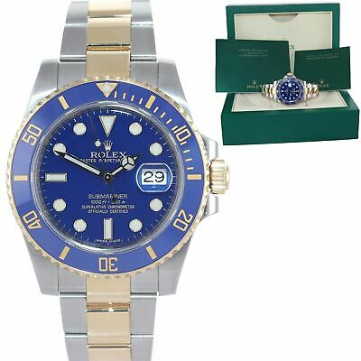 $ CDN18673.24 • Buy DISCONTINUED Rolex Submariner Ceramic 116613LB Two Tone Gold Blue Smurf Watch