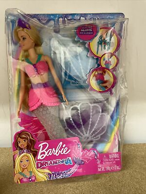 £14.99 • Buy Barbie Dreamtopia Mermaid Doll With Glitter Slime Damage Box New Free Postage