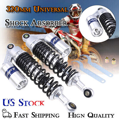 $72.14 • Buy Pair 12.5  Rear Shock Absorbers Black Damper 320mm Round Type Fit For Yamaha