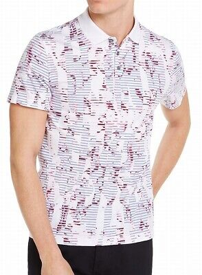 $0.99 • Buy Alfani Mens Shirt Classic Purple Size Small S Floral Print Polo Rugby $55- 197