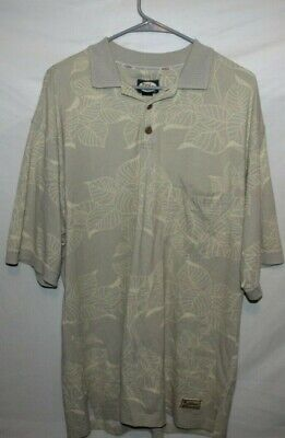 $18 • Buy Tommy Bahama Men's Large Flower Print Button Up Collar Short Sleeve Sweater