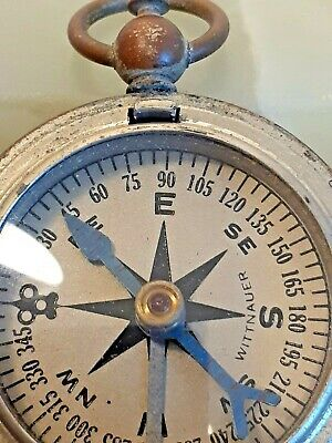 $50 • Buy Vintage Wittnauer Pocket Watch Style Compass Ww2 Us Military Rare Wittnauer Face