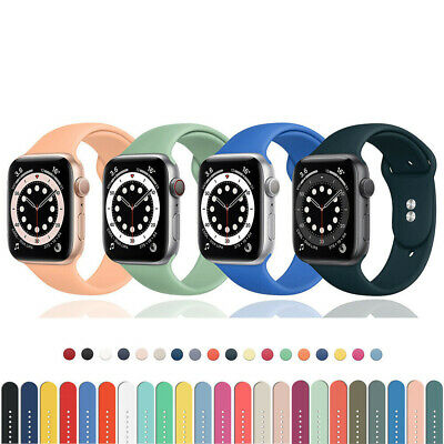 AU4.99 • Buy For Apple Watch Series 6 5 4 3 SE Sport Silicone Band Strap 38/40/42/44mm IWatch