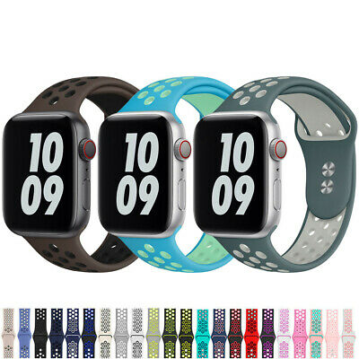 AU4.99 • Buy For Apple Watch Silicone Sport Band Strap 38/40/42/44mm IWatch Series 6 5 4-1 SE
