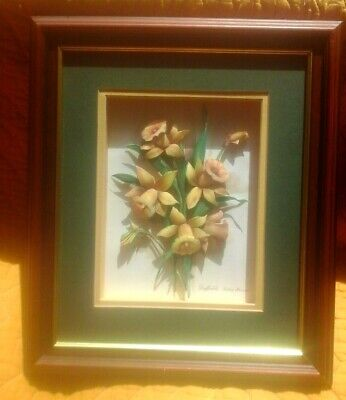 £12.99 • Buy Vintage Decoupage 3d FloraL Picture Daffodils