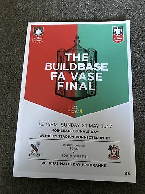 £1 • Buy Cleethorpes Town V South Shields Fa Vase Final 21st May 2017