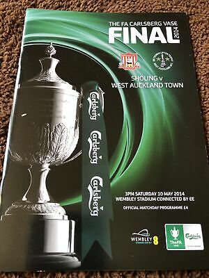 £1 • Buy Scholing V West Auckland Town Fa Vase Final 10th May 2014
