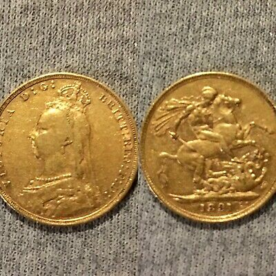 £425 • Buy One Full Gold Sovereign Queen Victoria 1891