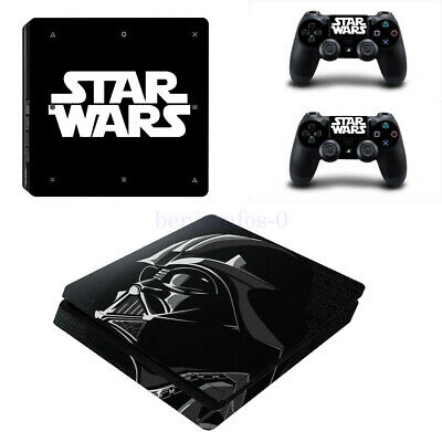 AU25.72 • Buy Vinyl Decal Skin Sticker For Star Wars Sony PS4 Slim Console & 2 Controllers NEW