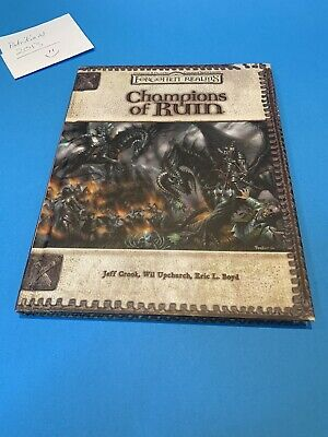 AU94.26 • Buy Champions Of Ruin - Dungeon  Dragons D20 V 3.5 WOTC RPG Hardback Supplement*