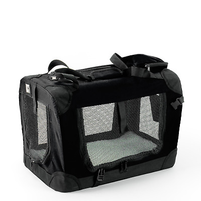 £26.95 • Buy Kct Small Black Fabric Pet Carrier Bag Portable Foldable Cat Travel Dog Crate